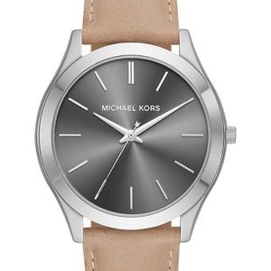 MK Leather Watch